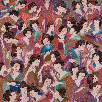 UKYIO É OU NÃO É ?, 80 x 80, Acrílica e acrílica em baixo relevo s/ tela, 2012