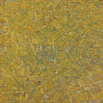 METROPOLIS (a Fritz Lang) 80 x 80 Acrílica e acrílica em baixo relevo s/ tela 2011