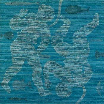 OS ESCAFANDRISTAS VIRÃO..., 90 X 90, Acrílica e acrílica em baixo relevo s/ tela, 2012