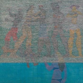 POOL PARTY, Acrílica e acrílica em baixo relevo s/ tela, 2012