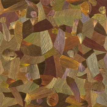 CATA POLICHINELO I, Acrílica e acrílica em baixo-relevo s tela, 90X90, 2012